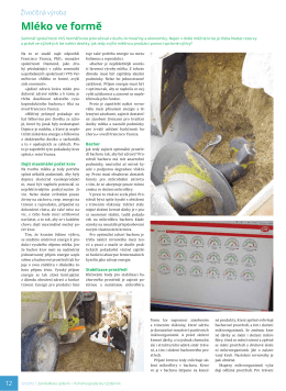 Mléko ve formě, Zemědělský týdeník 33/2015