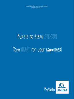 Myslete na štěstí SRDCEM! Take HEART for your happiness!