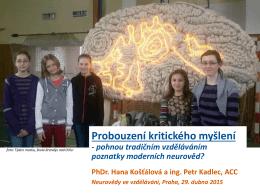 PhDr. Hana Košťálová a Ing. Petr Kadlec