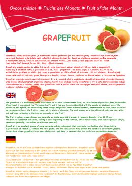 Ovoce měsíce / Frucht des Monats
