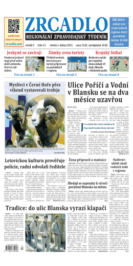 Ulice Poříčí a Vodní v Blansku se na dva měsíce uzavřou