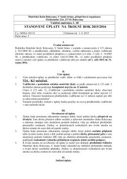 Směrnice č. 18 - úplata ve školním roce 2015