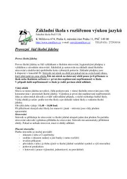 Provozní řád školní jídelny (pdf/100kB)
