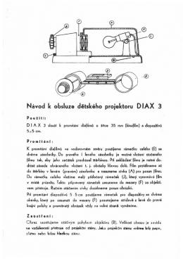 Návod k obsluze dětského projektoru O lA X 3