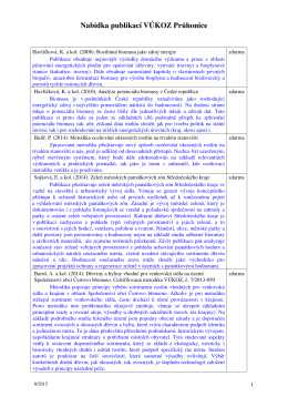 Aktuální nabídka publikací ústavu - Výzkumný ústav Silva Taroucy