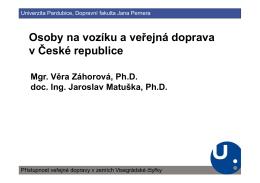 Osoby na vozíku a veřejná doprava v České republice