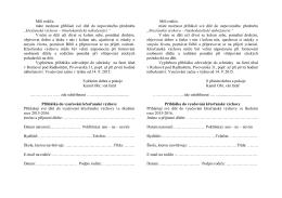 Přihláška ke stažení ZDE (v PDF)
