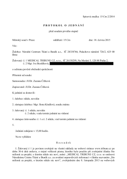 Spisová značka: 15 Cm 2/2014