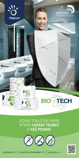 jediný toaletní papír, který chrání trubky a váš podnik.