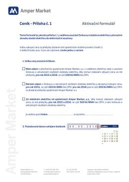 Ceník - aktivační formulářpdf