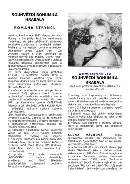 Romana Štryncl - Souhvězdí Bohumila Hrabala