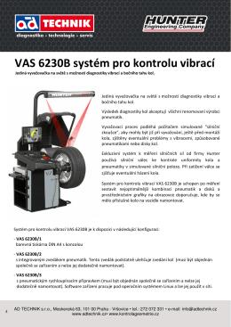 VAS 6230B systém pro kontrolu vibrací