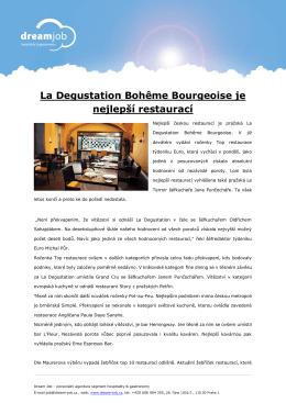 La Degustation Bohême Bourgeoise je nejlepší restaurací