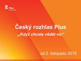 """Český rozhlas Plus - """"Když chcete vědět víc"""""""