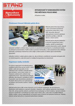 IP komunikační systém pro Městskou policii Brno