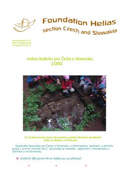 Helias Bulletin pro Čechy a Slovensko, 2012/2
