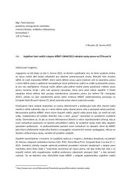 Mgr. Pavla Katzová pověřena zastupováním náměstka ministra