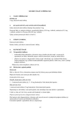 Fenolax - Souhrn údajů o přípravku