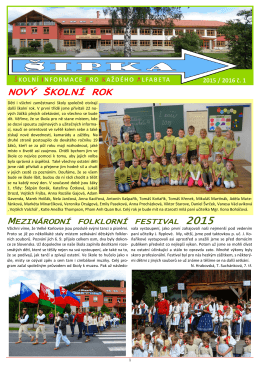NOVÝ ŠKOLNÍ ROK 2015 - Základní Škola Velké Karlovice
