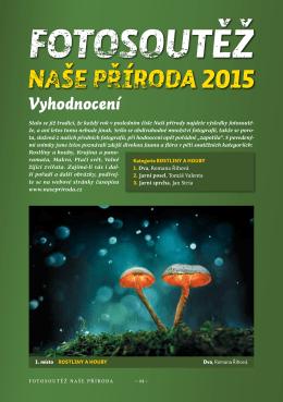 fotosoutěž naše příroda 2015 – vyhodnocení