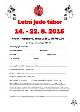 Letní judo tábor