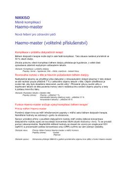 NIKKISO Haemo-master Haemo-master (volitelné příslušenství)
