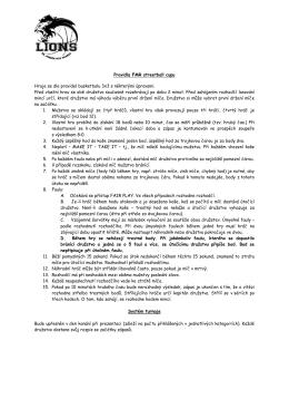 Pravidla FMR streetball cupu Hraje se dle pravidel basketbalu 3x3 s