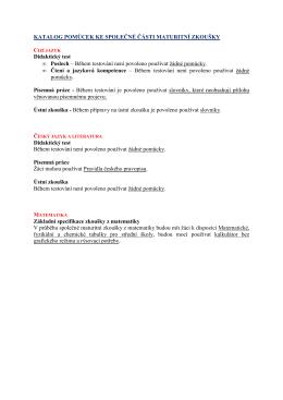 katalog pomůcek pro SČ MZ