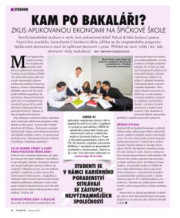 Článek o MA in Applied Economics v časopise Studenta - cerge-ei