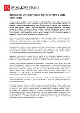 Rodinný den Dvořákovy Prahy: hravě a nevážně