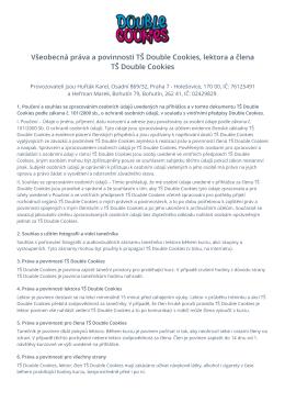 Všeobecná práva a povinnosti TŠ Double Cookies, lektora a člena