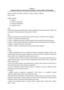 jednání červen 2015 - OSH Plzeň