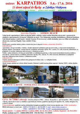 řeckém ostrově KARPATHOS.