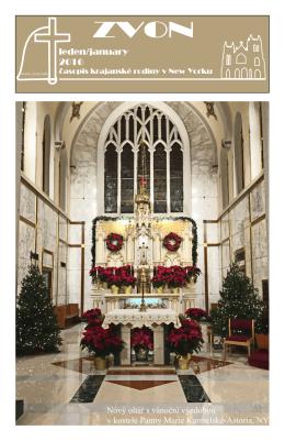 leden/january 2016 Nový oltář s vánoční výzdobou v