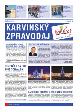 Karvinský zpravodaj 12/2015
