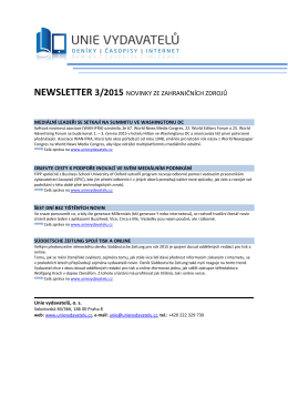 3. číslo 2015 - Unie vydavatelů