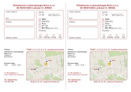Žádanka RTG Brno - Lidická