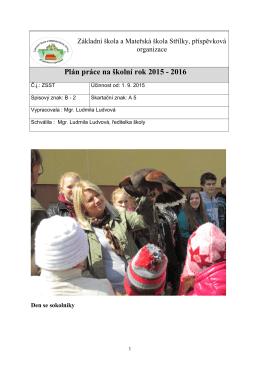 Plán práce školní rok 2015/16