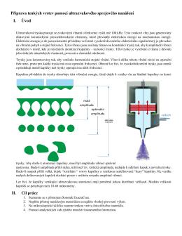 Příprava tenkých vrstev pomocí ultrazvukového sprejového