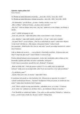 Způsoby zápisu přímé řeči