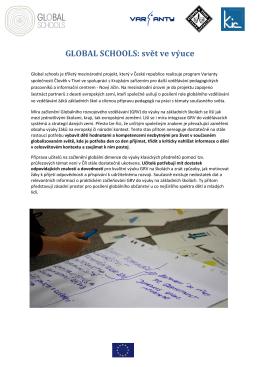 GLOBAL SCHOOLS: svět ve výuce