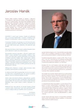 Jaroslav Hanák prezident Svazu průmyslu a dopravy ČR