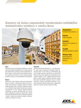 Kamery od Axisu napomohly modernizaci městského dohledového