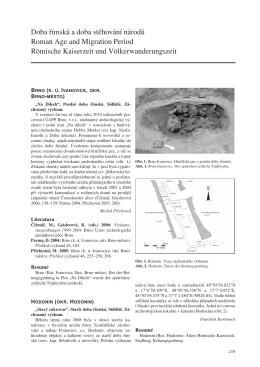 Doba římská a doba stěhování národů – Roman Age and Migration