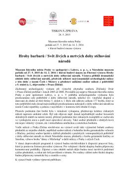 Tisková zpráva ke stažení - Muzeum hlavního města Prahy