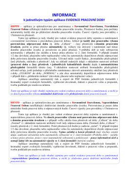 Informace k typum aplikace EPD 5.2