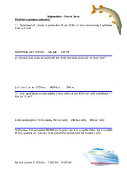 Logické slovní úlohy 1.
