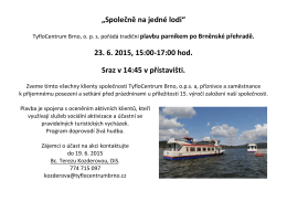 """""""Společně na jedné lodi"""" 23. 6. 2015, 15:00"""