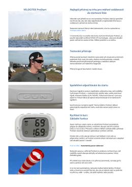 VELOCITEK ProStart Nejlepší přístroj na trhu pro měření vzdálenosti