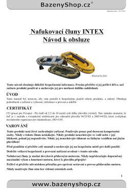 Návod na čluny INTEX